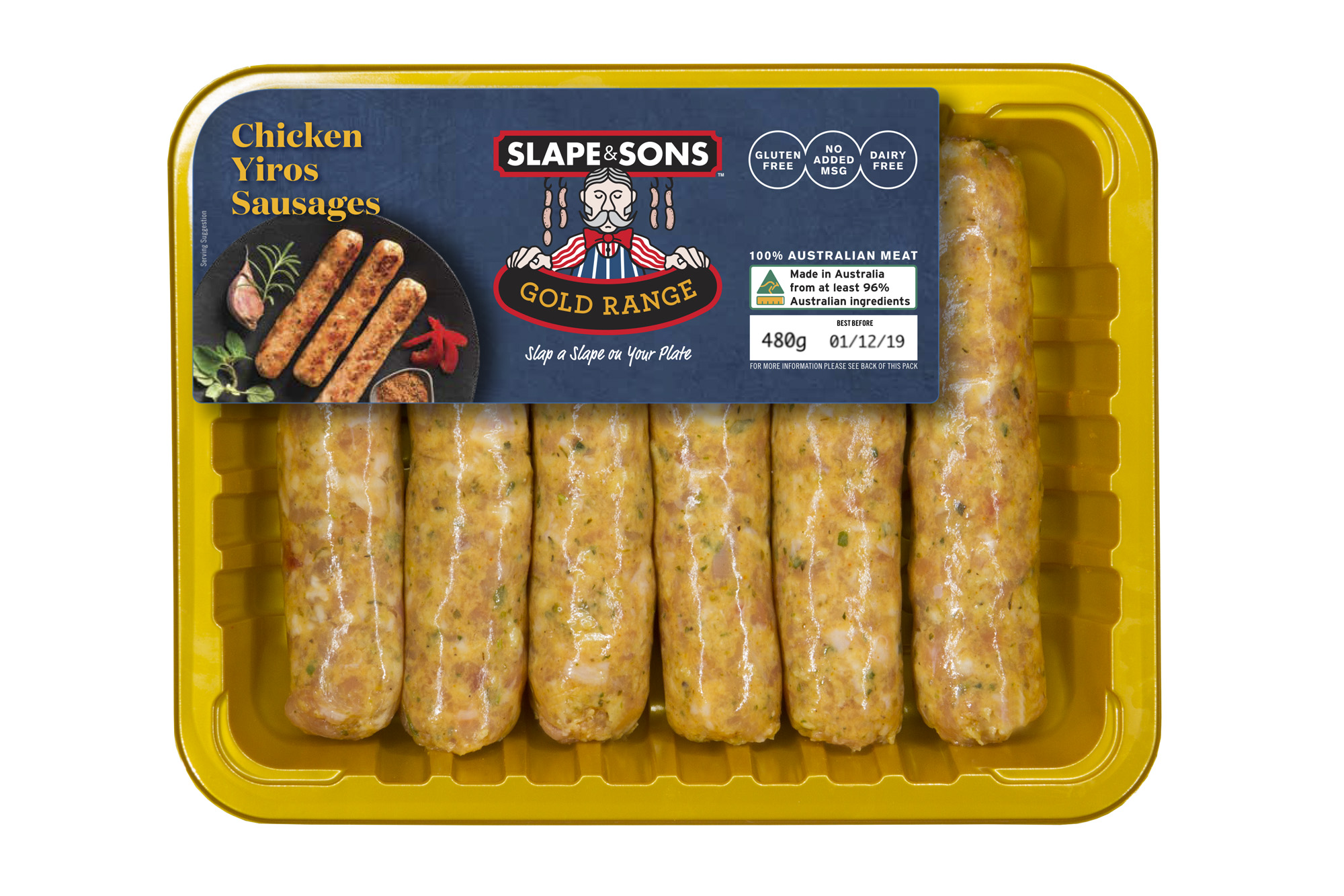 Slape and Sons - Chicken Yiros Sausages