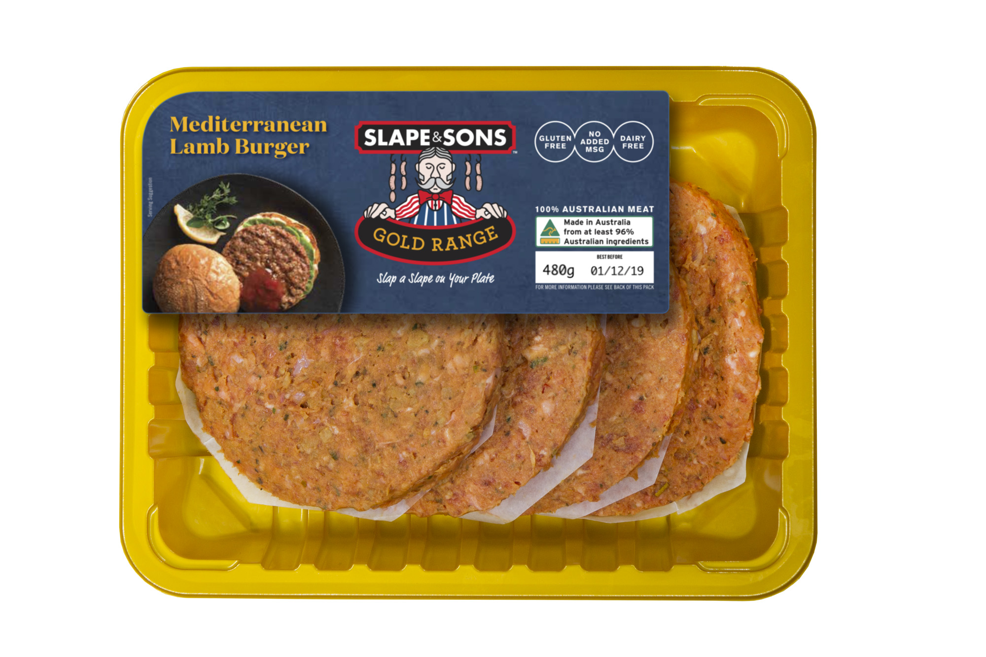 Slape and Sons - Mediterranean Lamb Burger